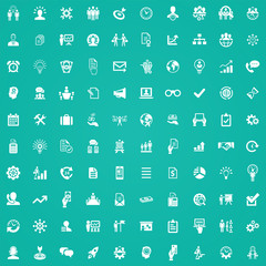 business planning 100 icons universal set