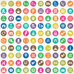 service 100 icons universal set