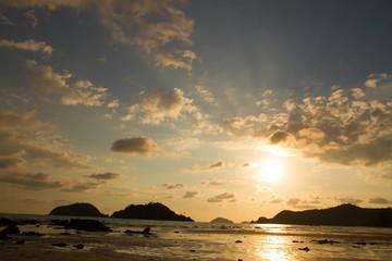 Beautiful  sunset beach