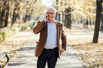 elegant old men walking