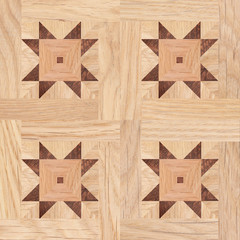 Seamless pattern, fragment of parquet floor