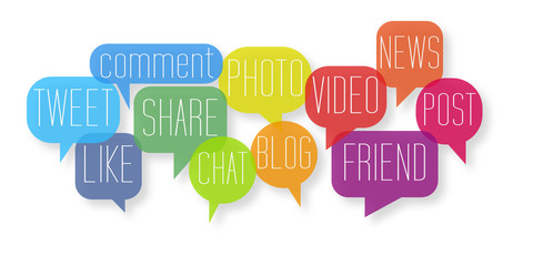 Social Media connection Web Marketing