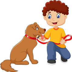 Image result for young boy running from dog cartoon