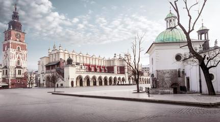Obraz Główny plac w Krakowie, Polska - fototapety do salonu