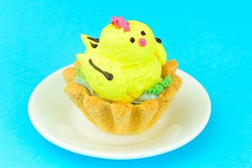 Edible Ice Cream in the Form of a Chicken.