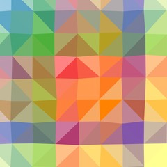 Abstract low poly and triangular color background.