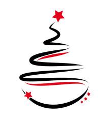 weihnachtsbaum - rot/schwarz