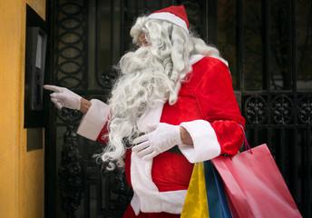 Santa Claus ringing the bell