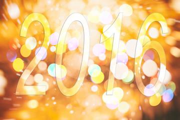 2016 New Year shining background