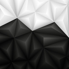 Abstract geometrical black and white background. Vector Illustra