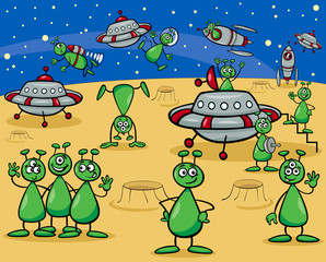 aliens characters cartoon