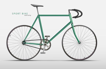 Vector realistic racing bicycle road racing