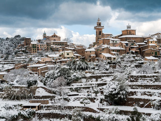 Valldemossa - Panorama mit Schnee