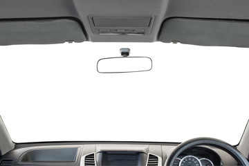 Car interior isolated on white background