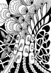 Zentangle - meditative drawing