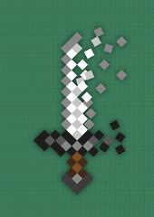 Pixel sword used in computer games