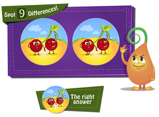 find 9 differences ladybird