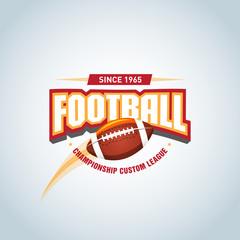 American football logo template, badge, t-shirt, label, emblem. Football logotype. Vector illustration.