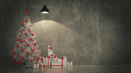 Christmas Tree with Gifts,Christmas concept.