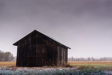 Barn In The Snowfall