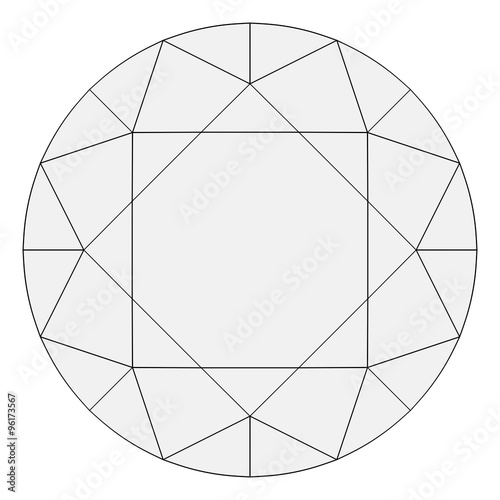 quotbrilliant diamond wireframe top down orthographic drawing