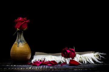 still life vase with flower