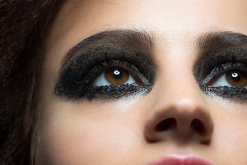 Closeup of eye with makeup
