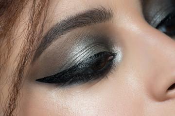 Closeup of eye with makeup