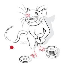 Chinese Calligraphy Rat 2020