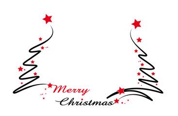 merry christmas mit christbaum
