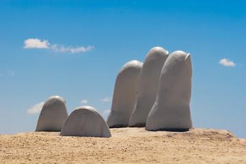 Poster South America Country Hand sculpture, Punta del Este Uruguay