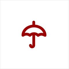 Colored linear vector umbrella icon