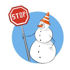 work snowman