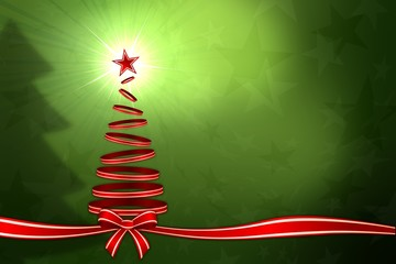 Abstract of ribon christmas tree