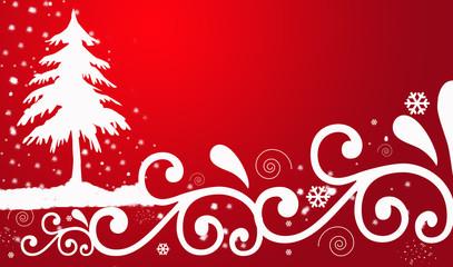 Abstract of ribbon Christmas tree