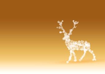 Christmas Reindeer in Gold / Frohe Weihnachten