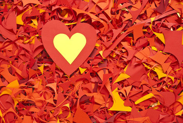 valentine day paper cuttings background with