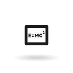Black formula Einstei line icon