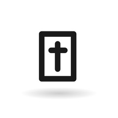 Black Holy Bible line icon