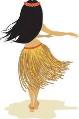 Beautiful hula dancer