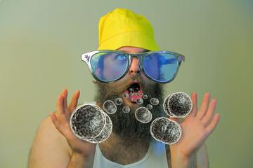 Bearded Man Mouth Bacteria