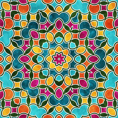 Colorful round pattern