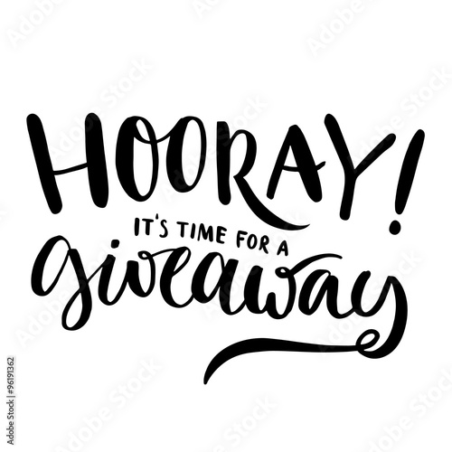 Hooray Its Time For Giveaway Promo Banner For Social Media