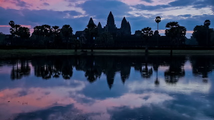 Wall Mural - Angkor Wat - famous Cambodian landmark - on sunset. Siem Reap, Cambodia