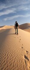 Walking on a dune, Abu Dhabi desert