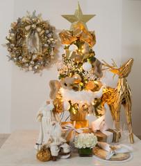 seasonal fetive christmas decorations and gifts