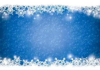 Blue snowfkake background.