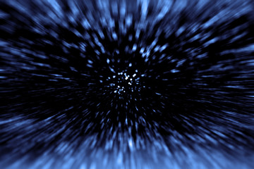 Space Wars Time Travel and Big Bang. Star Hyperspace Warp