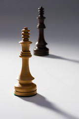 To Chess Kings on Gray