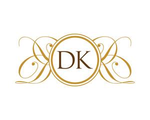 DK Luxury Ornament Initial Logo